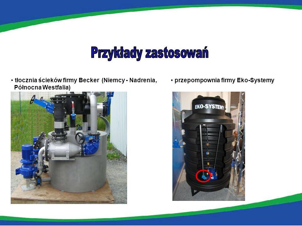 tłocznia ścieków firmy Becker (Niemcy - Nadrenia, Północna Westfalia) przepompownia firmy Eko-Systemy