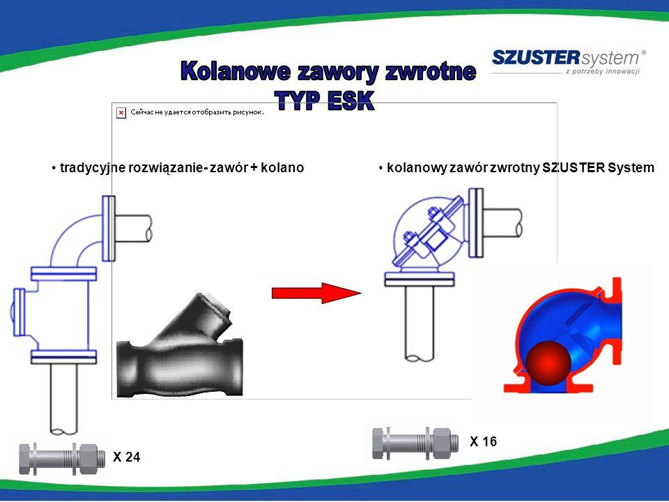Zawór zwrotny liniowy kolanowy zawór zwrotny SZUSTER System