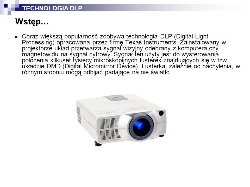 Coraz większą popularność zdobywa technologia DLP (Digital Light Processing) opracowana przez firmę Texas Instruments.