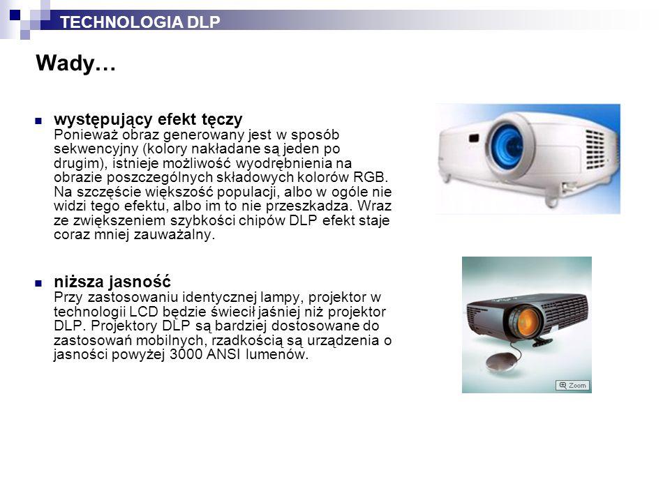 Projektory LCD wyposażone są w ciekłokrystaliczne panele polisilikonowe.