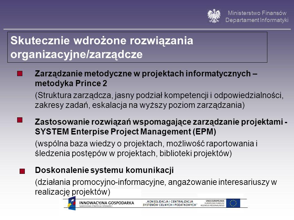 Ministerstwo Finansów Departament Informatyki Zarządzanie metodyczne w projektach informatycznych – metodyka Prince 2 (Struktura zarządcza, jasny podz