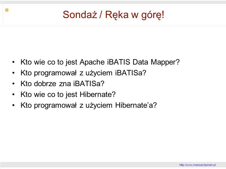 http://www.mariusz lipinski.pl Sondaż / Ręka w górę.