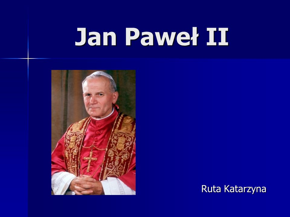 Jan Paweł II Ruta Katarzyna