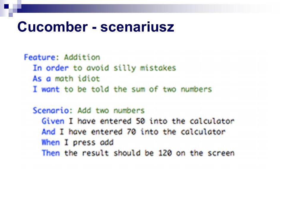 Cucomber - scenariusz