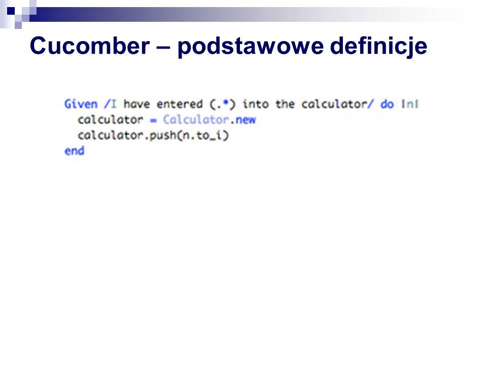 Cucomber – podstawowe definicje