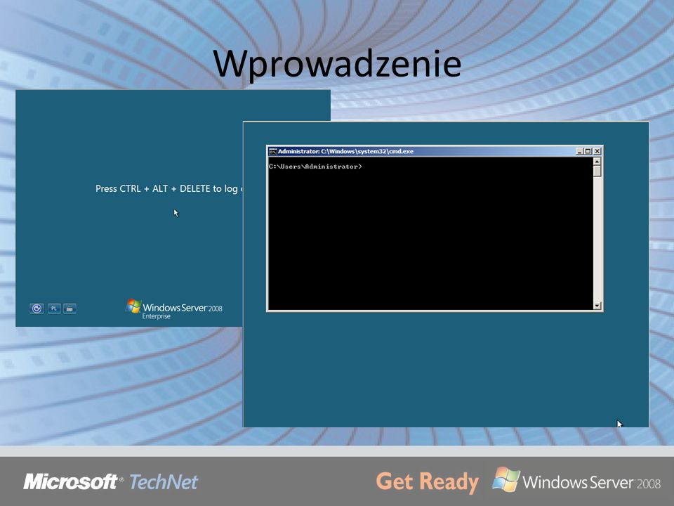 Remote Management via TS Aby łączyć się z komputerów innych niż Vista (pre-Vista) trzeba wyłączyć enhanced security: cscript scregedit.wsf /cs 0