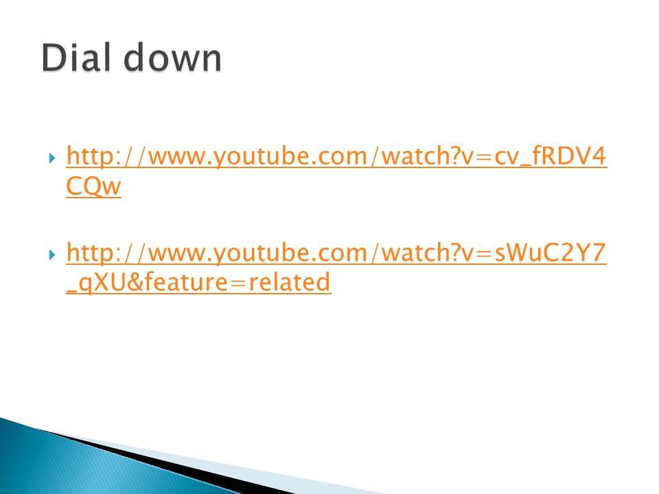 http://www.youtube.com/watch?v=cv_fRDV4 CQw http://www.youtube.com/watch?v=cv_fRDV4 CQw http://www.youtube.com/watch?v=sWuC2Y7 _qXU&feature=related http://www.youtube.com/watch?v=sWuC2Y7 _qXU&feature=related