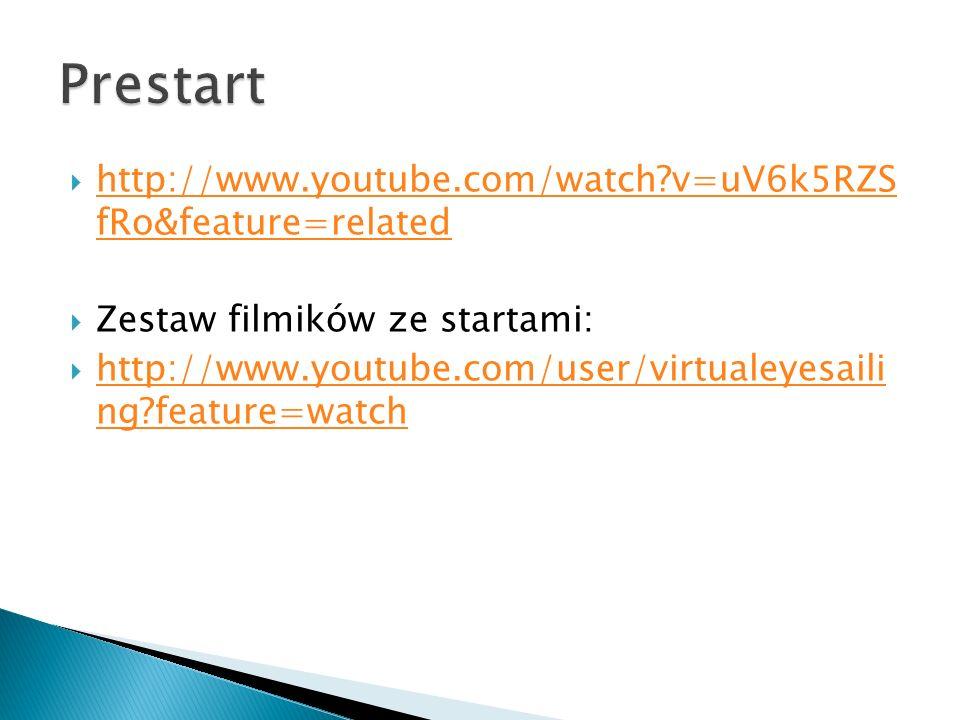 http://www.youtube.com/watch?v=uV6k5RZS fRo&feature=related http://www.youtube.com/watch?v=uV6k5RZS fRo&feature=related Zestaw filmików ze startami: http://www.youtube.com/user/virtualeyesaili ng?feature=watch http://www.youtube.com/user/virtualeyesaili ng?feature=watch