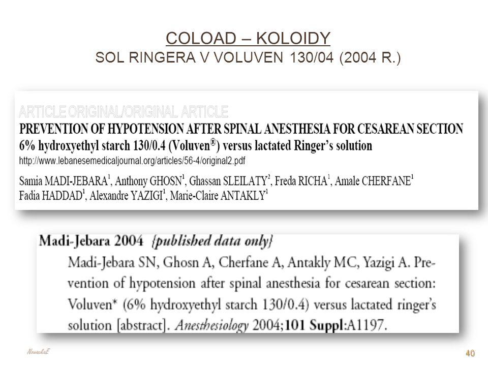 COLOAD – KOLOIDY SOL RINGERA V VOLUVEN 130/04 (2004 R.) 40 NowackaE