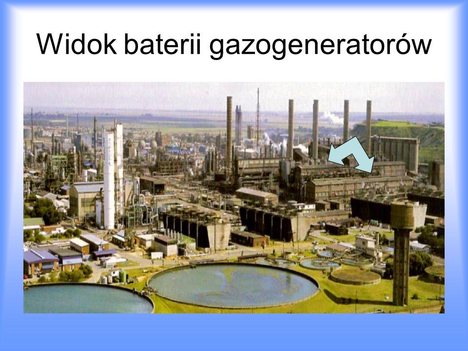 Widok baterii gazogeneratorów