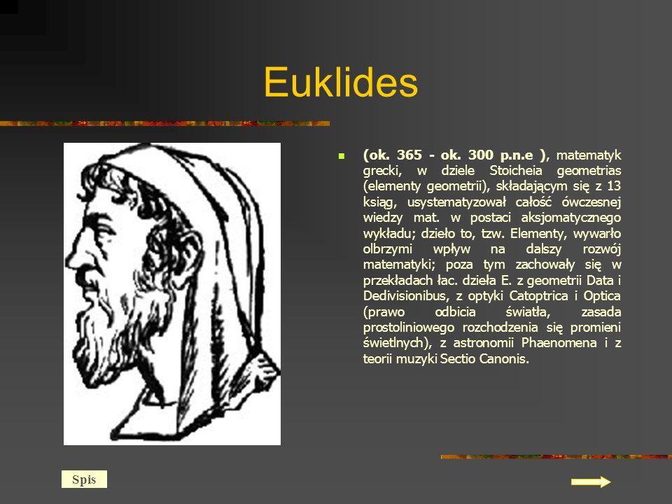 Euklides (ok.365 - ok.