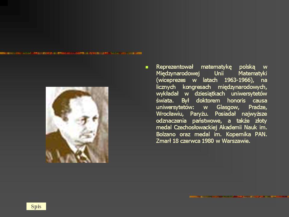 Reprezentował matematykę polską w Międzynarodowej Unii Matematyki (wiceprezes w latach 1963-1966), na licznych kongresach międzynarodowych, wykładał w dziesiątkach uniwersytetów świata.