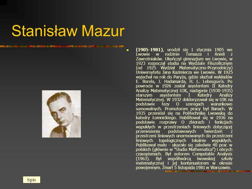 Stanisław Mazur (1905-1981), urodził się 1 stycznia 1905 we Lwowie w rodzinie Tomasza i Anieli z Zawrotniaków.
