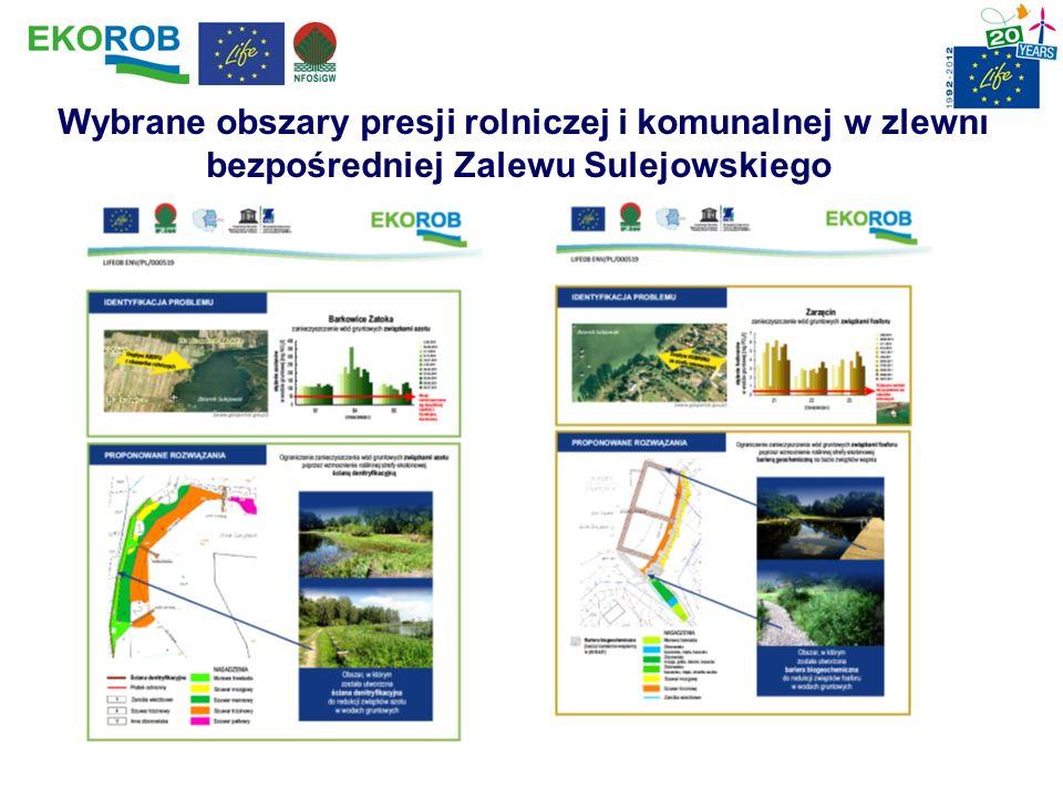 Wybrane obszary presji rolniczej i komunalnej w zlewni bezpośredniej Zalewu Sulejowskiego