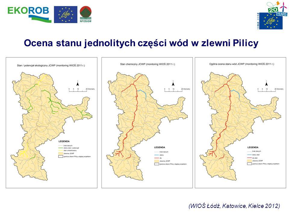 Ocena stanu jednolitych części wód w zlewni Pilicy (WIOŚ Łódź, Katowice, Kielce 2012)