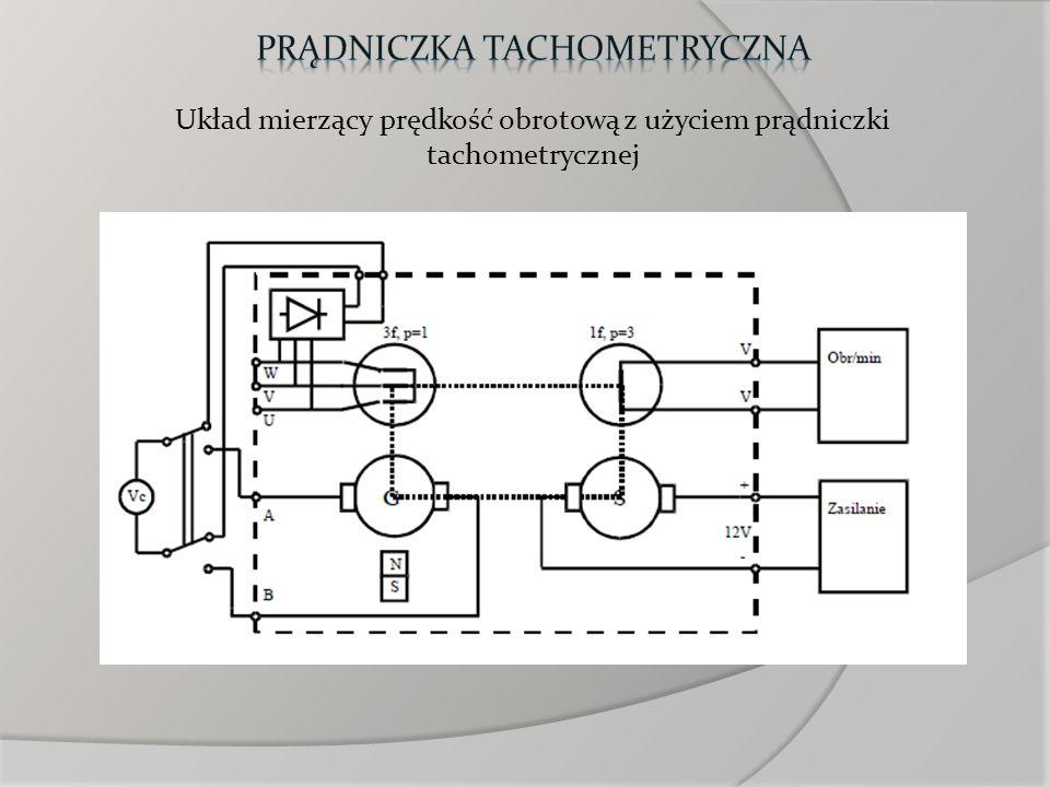 Układ mierzący prędkość obrotową z użyciem prądniczki tachometrycznej