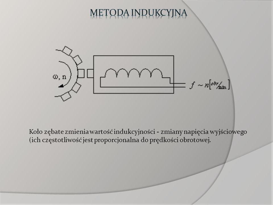 Koło zębate zmienia wartość indukcyjności - zmiany napięcia wyjściowego (ich częstotliwość jest proporcjonalna do prędkości obrotowej.