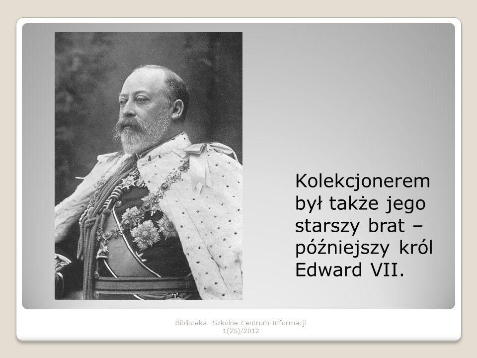 Jerzy V kupował znaczki na aukcjach filatelistycznych.