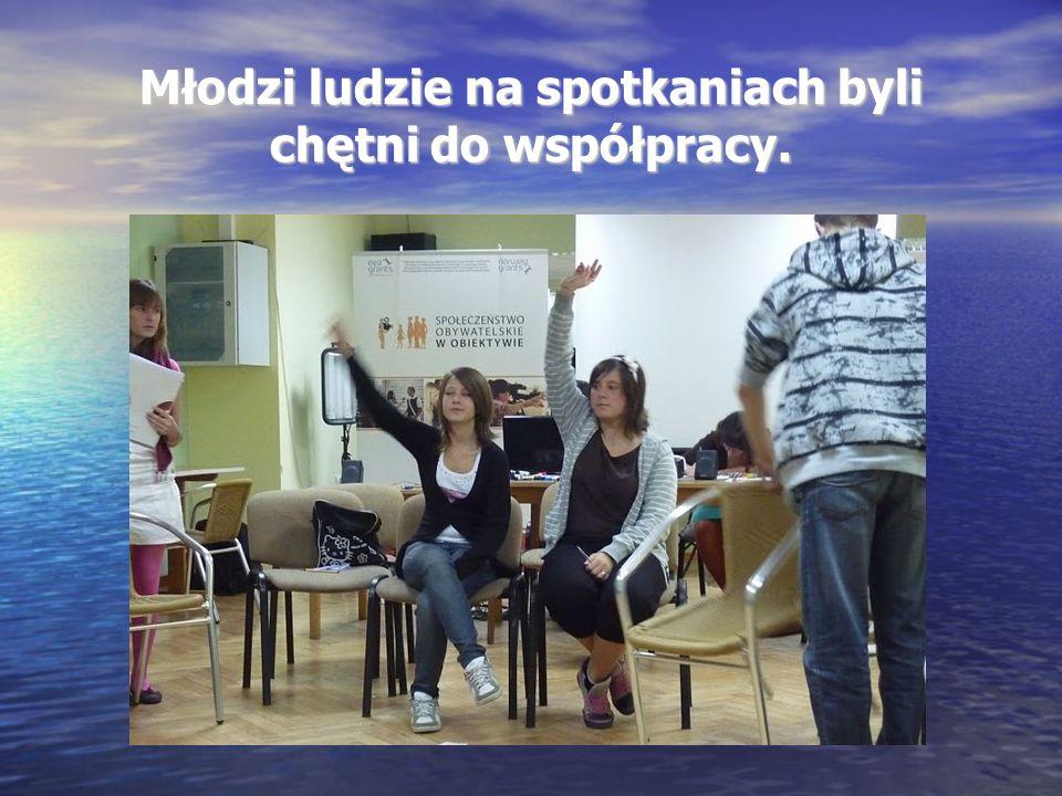 Młodzi ludzie na spotkaniach byli chętni do współpracy.