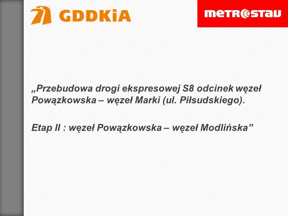 Przebudowa drogi ekspresowej S8 odcinek węzeł Powązkowska – węzeł Marki (ul. Piłsudskiego). Etap II : węzeł Powązkowska – węzeł Modlińska