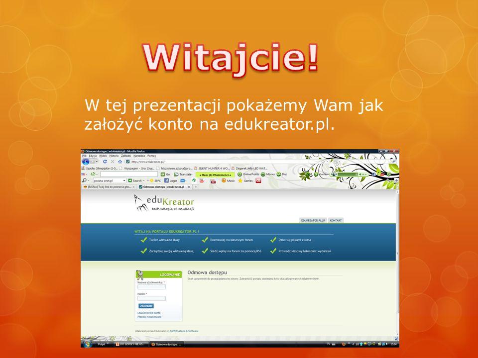 W tej prezentacji pokażemy Wam jak założyć konto na edukreator.pl.