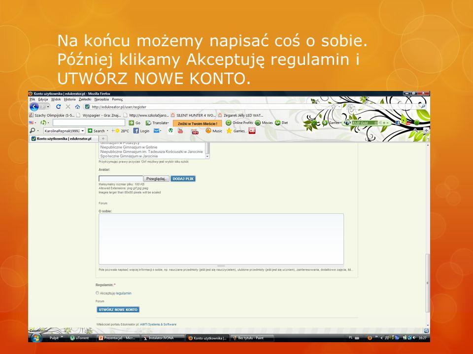 Tak właśnie zakłada się konto na edukreator.pl.
