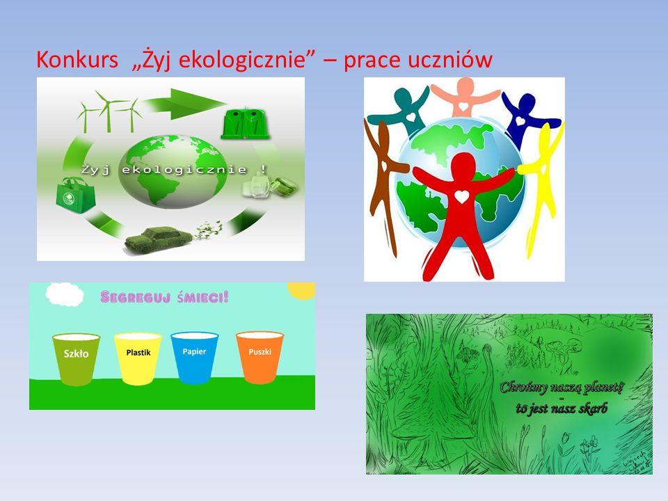 Konkurs Żyj ekologicznie – prace uczniów