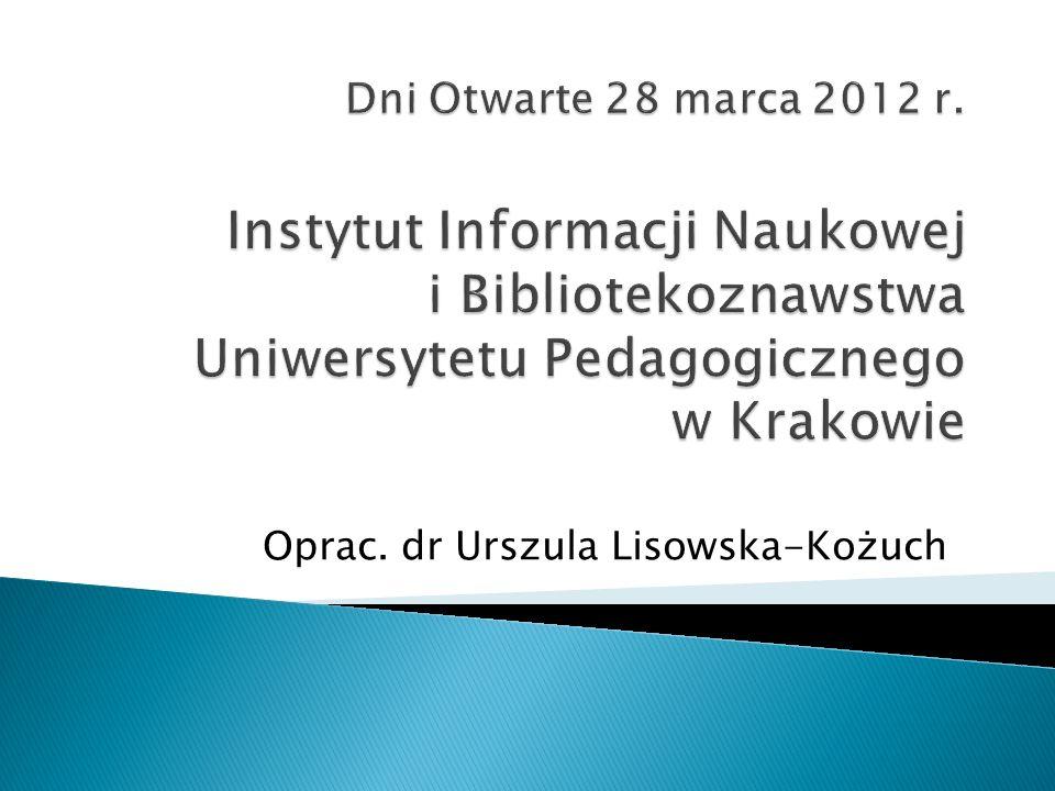 Oprac. dr Urszula Lisowska-Kożuch