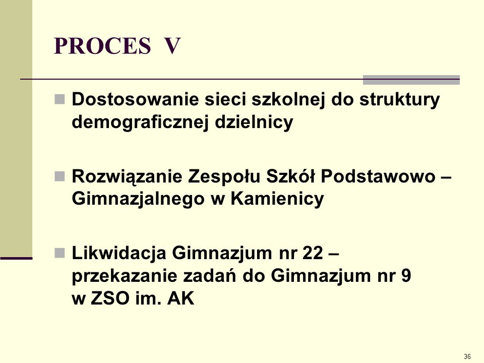 PROCES V Zespół Szkół Podstawowo – Gimnazjalny zlokalizowany jest w trzech budynkach: - budynek przy ul.