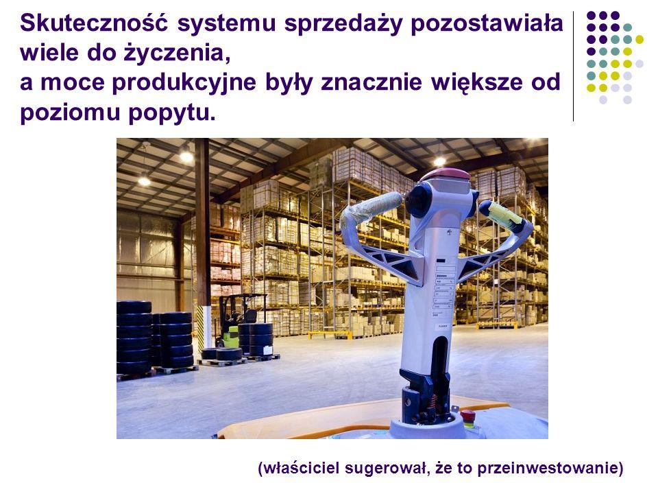 Skuteczność systemu sprzedaży pozostawiała wiele do życzenia, a moce produkcyjne były znacznie większe od poziomu popytu. (właściciel sugerował, że to