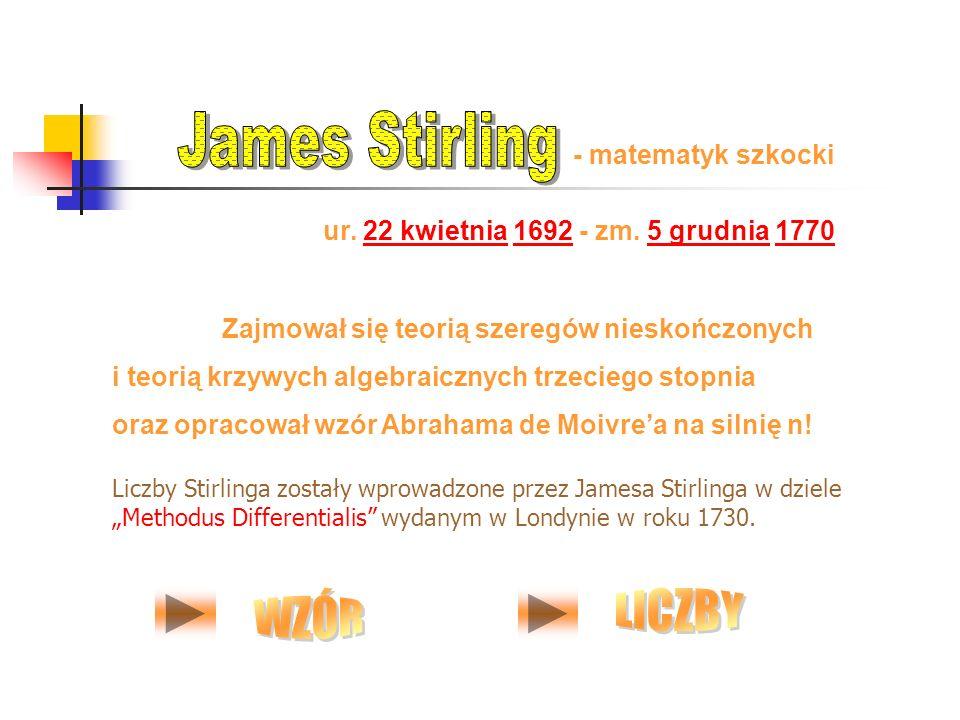 ur. 22 kwietnia 1692 - zm. 5 grudnia 177022 kwietnia16925 grudnia1770 - matematyk szkocki Zajmował się teorią szeregów nieskończonych i teorią krzywyc