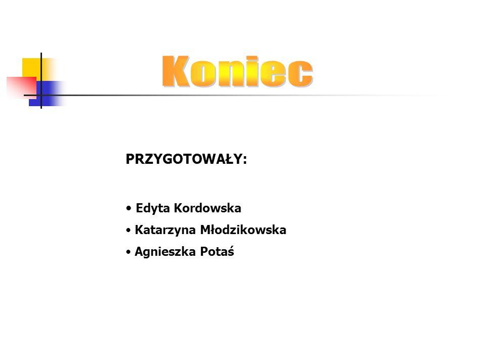 PRZYGOTOWAŁY: Edyta Kordowska Katarzyna Młodzikowska Agnieszka Potaś