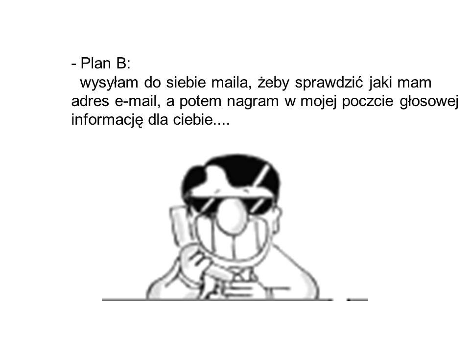 - to jest plan A