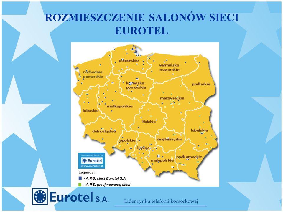 ROZMIESZCZENIE SALONÓW SIECI EUROTEL