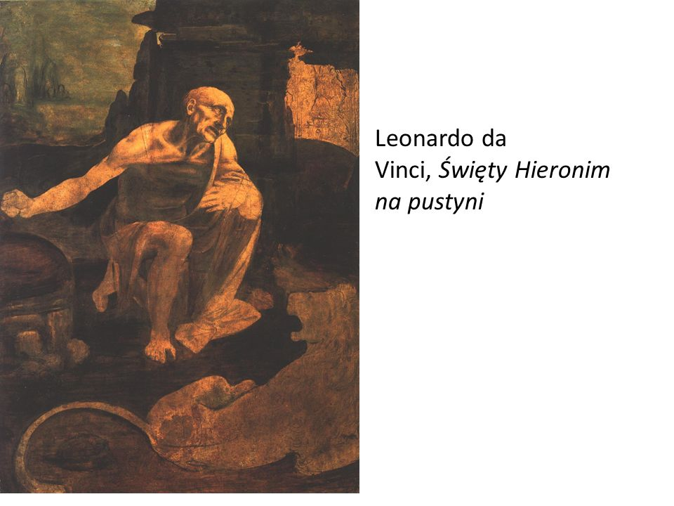 Leonardo da Vinci, Święty Hieronim na pustyni