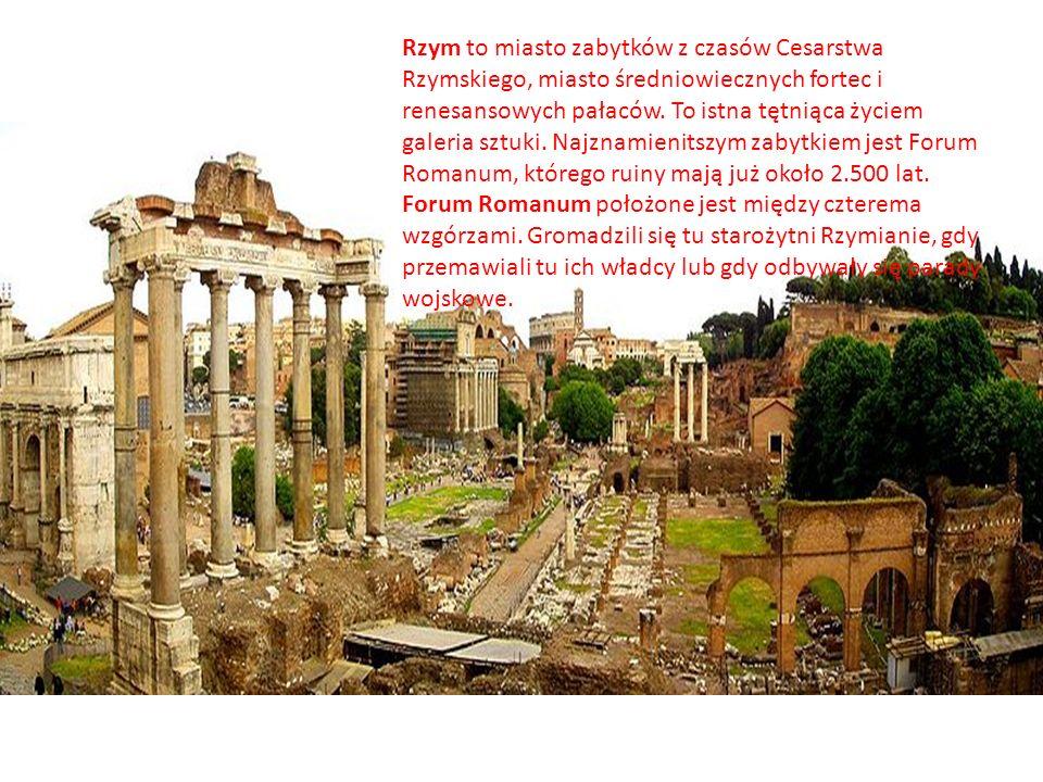 Rzym to miasto zabytków z czasów Cesarstwa Rzymskiego, miasto średniowiecznych fortec i renesansowych pałaców. To istna tętniąca życiem galeria sztuki