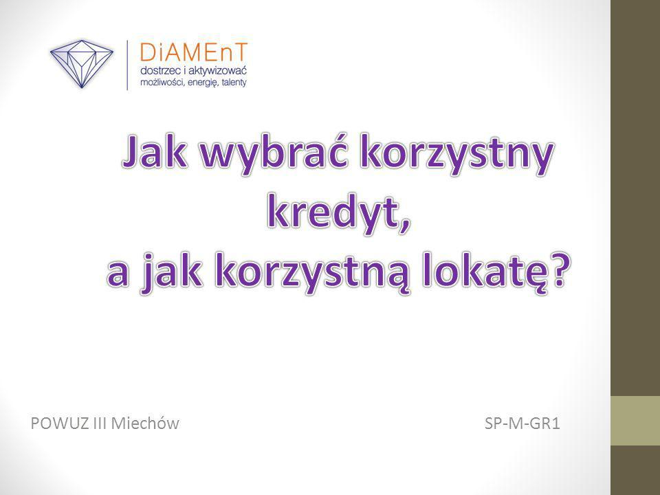 Wniosek Najkorzystniejszy kredyt hipoteczny w Miechowie proponuje Krakowski Bank Spółdzielczy, ponieważ ma: Najniższe oprocentowanie Najniższą ratę Najniższe RRSO Najmniejszą prowizję Najniższą kwotę do spłaty