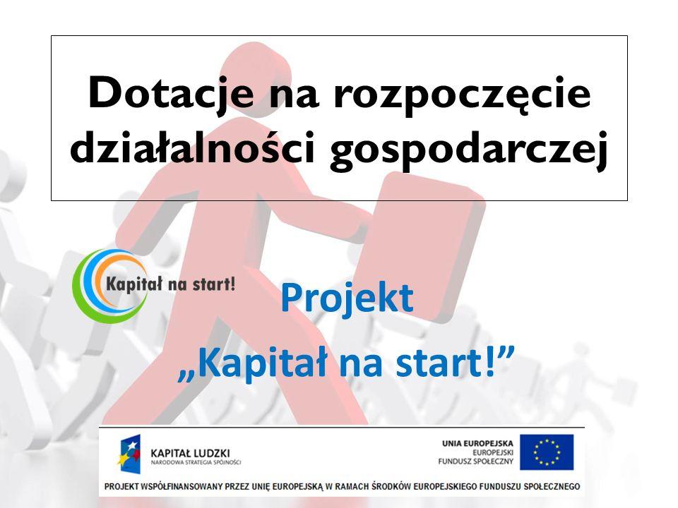 … Projekt realizowany jest w ramach: Programu Operacyjnego Kapitał Ludzki Priorytetu VI Rynek pracy otwarty dla wszystkich Działania 6.2 Wsparcie oraz promocja przedsiębiorczości i samozatrudnienia
