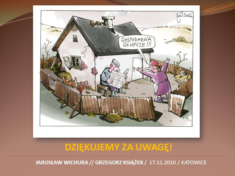 DZIĘKUJEMY ZA UWAGĘ! JAROSŁAW WICHURA // GRZEGORZ KSIĄŻEK / 17.11.2010 / KATOWICE