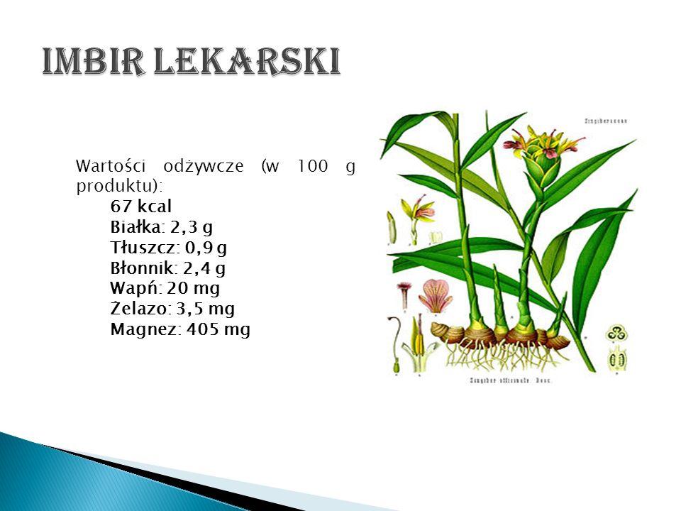 Wartości odżywcze (w 100 g produktu): 67 kcal Białka: 2,3 g Tłuszcz: 0,9 g Błonnik: 2,4 g Wapń: 20 mg Żelazo: 3,5 mg Magnez: 405 mg