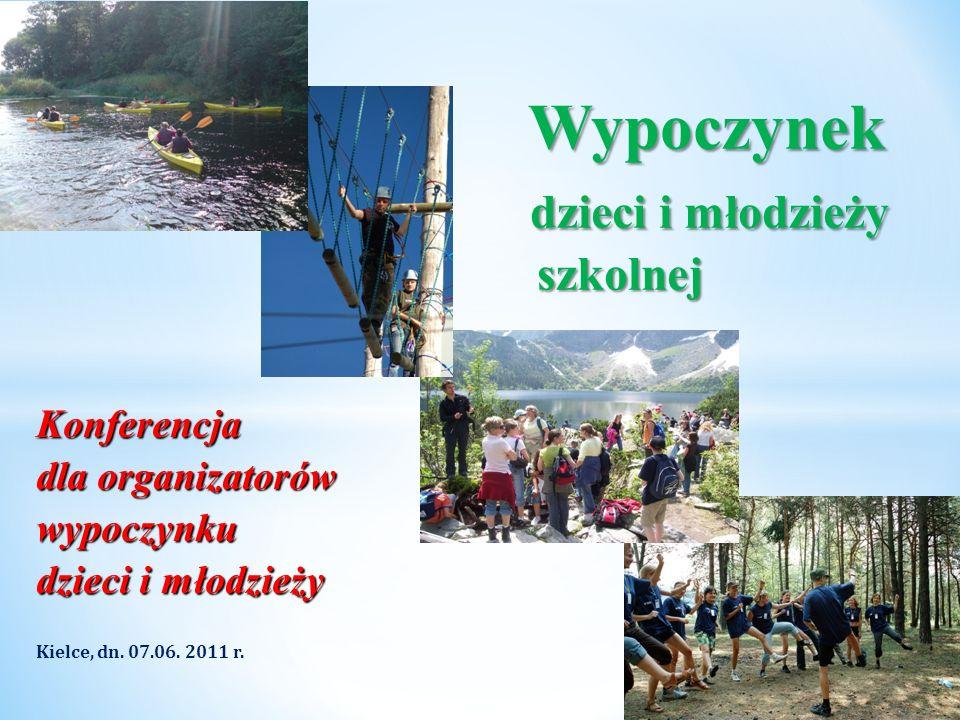 Konferencja dla organizatorów wypoczynku dzieci i młodzieży Kielce, dn. 07.06. 2011 r. * Wypoczynek dzieci i młodzieży szkolnej