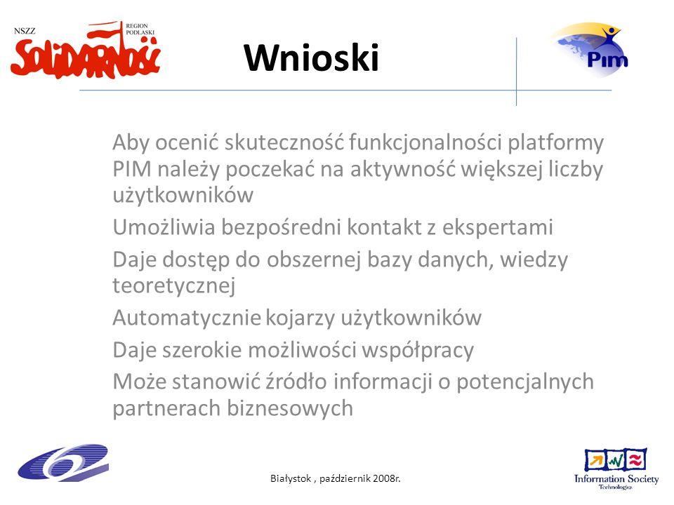 Białystok, październik 2008r.