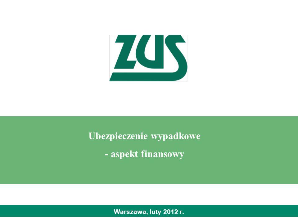 Warszawa, luty 2012 r. Ubezpieczenie wypadkowe - aspekt finansowy