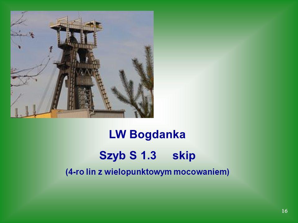 16 LW Bogdanka Szyb S 1.3 skip (4-ro lin z wielopunktowym mocowaniem)