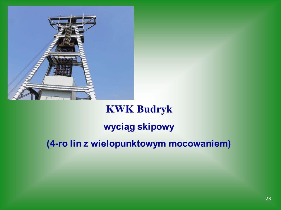 23 KWK Budryk wyciąg skipowy (4-ro lin z wielopunktowym mocowaniem)
