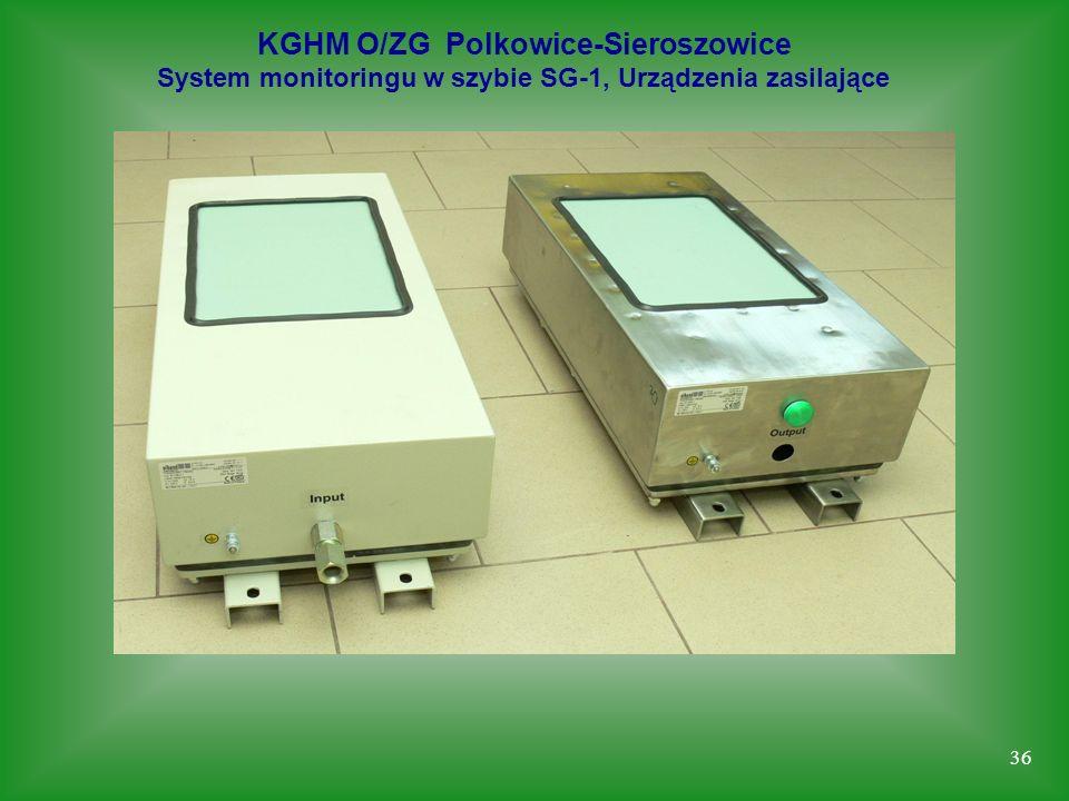 36 KGHM O/ZG Polkowice-Sieroszowice System monitoringu w szybie SG-1, Urządzenia zasilające