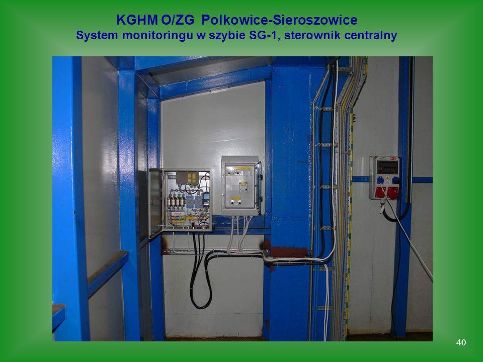 40 KGHM O/ZG Polkowice-Sieroszowice System monitoringu w szybie SG-1, sterownik centralny
