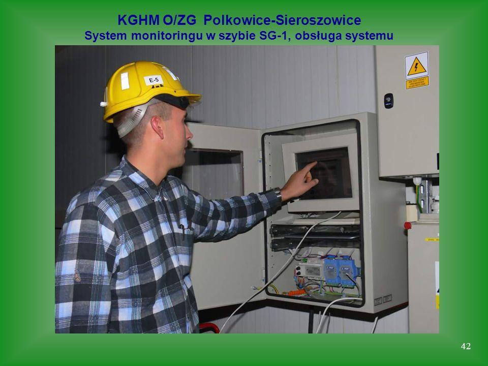 42 KGHM O/ZG Polkowice-Sieroszowice System monitoringu w szybie SG-1, obsługa systemu