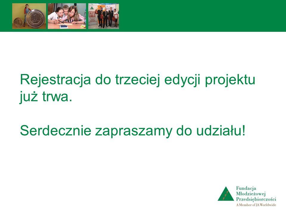 Rejestracja do trzeciej edycji projektu już trwa. Serdecznie zapraszamy do udziału!