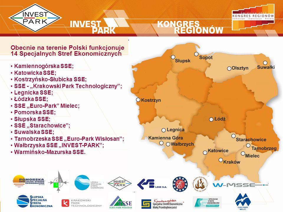 Obecnie na terenie Polski funkcjonuje 14 Specjalnych Stref Ekonomicznych Kamiennogórska SSE; Katowicka SSE; Kostrzyńsko-Słubicka SSE; SSE - Krakowski